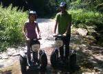 Daniela (nasse Füße) und Michael im Mieslingbach